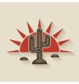 Desert cactus at sunset vector image