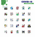 25 coronavirus emergency iconset blue design such vector image vector image