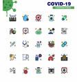 25 coronavirus emergency iconset blue design vector image vector image