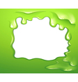 A green border design vector image vector image