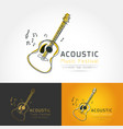 acoustic guitar logo vector image
