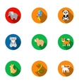 Animals set icons in flat style Big collection of vector image vector image