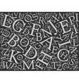 Background mosaic of letters vector image vector image