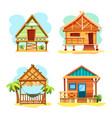 beach hut or island resort house bungalow vector image vector image