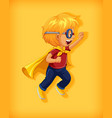 boy wearing superhero with stranglehold in vector image vector image