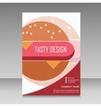 Brochure design for burger menu vector image