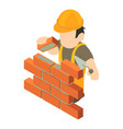 builder icon isometric 3d style vector image