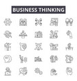 business thinking line icons signs set vector image vector image