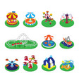 carousel merry-go-round or roundabout and vector image vector image