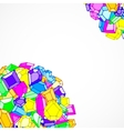 Cartoon doodle gems background vector image vector image