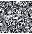 Cartoon doodles New Year season trace seamless vector image vector image