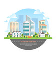 cityscape with a place for text - modern vector image
