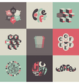 Coffee emblems and labels - Set of posters vector image vector image