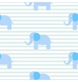 Cute blue elephant seamless pattern vector image