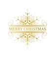 Decorative gold Christmas design element vector image vector image