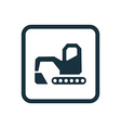 excavator icon Rounded squares button vector image vector image