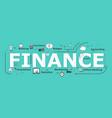 finance word desigh vector image vector image