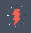 flash zigzag icon vector image