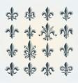 fleur-de-lis vintage symbols set vector image vector image