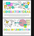 generation of ideas poster vector image
