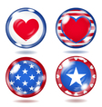 Glass buttons with USA symbols vector image