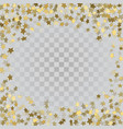gold 3d stars on transparent background vector image