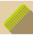 Green comb icon flat style vector image