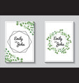 greenery cards eucalypthus wedding invitation set vector image vector image