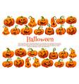 halloween holiday pumpkin lantern festive banner vector image vector image