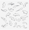 hand drawn arrows set arrow sketch creative vector image