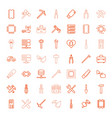 hardware icons vector image vector image