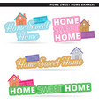 home sweet home banner vector image