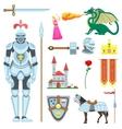 knight symbols vector image vector image