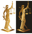 lady justice gold vector image vector image