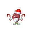 liver humble santa cartoon character having vector image vector image