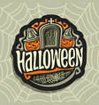 logo on halloween holiday theme vector image vector image