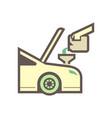 lubricant check icon vector image vector image