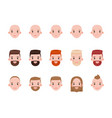 male heads with various hairstyles and mood set vector image vector image