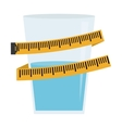 measuring tape diet icon image vector image vector image