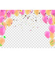 merry christmas poster balloons and happy new vector image vector image