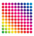 mesh of shapes with spectrum gradient fill on vector image