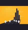 modern 3d arrow roads map of business and journey vector image