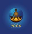 national yoga awareness month logo icon vector image