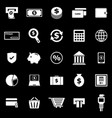 payment icons on black background vector image vector image