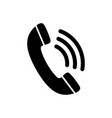 phone icon in black and white telephone symbol vector image vector image