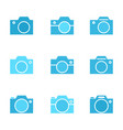 photo camera icon or snapshot sign vector image vector image