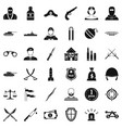 police weapon icons set simple style vector image vector image