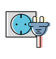 Power cable to electronic connect energy vector image