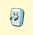 refrigerator cute smiley face character vector image vector image