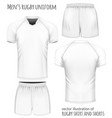 rugby jersey and shorts vector image vector image